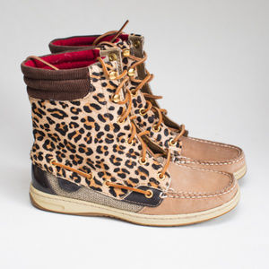 Sperry Top-Sider Hiker Fish Leopard Boot